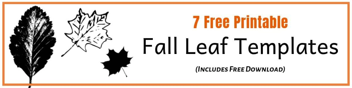 Fall Leaf Template designs to print and use in craft activities