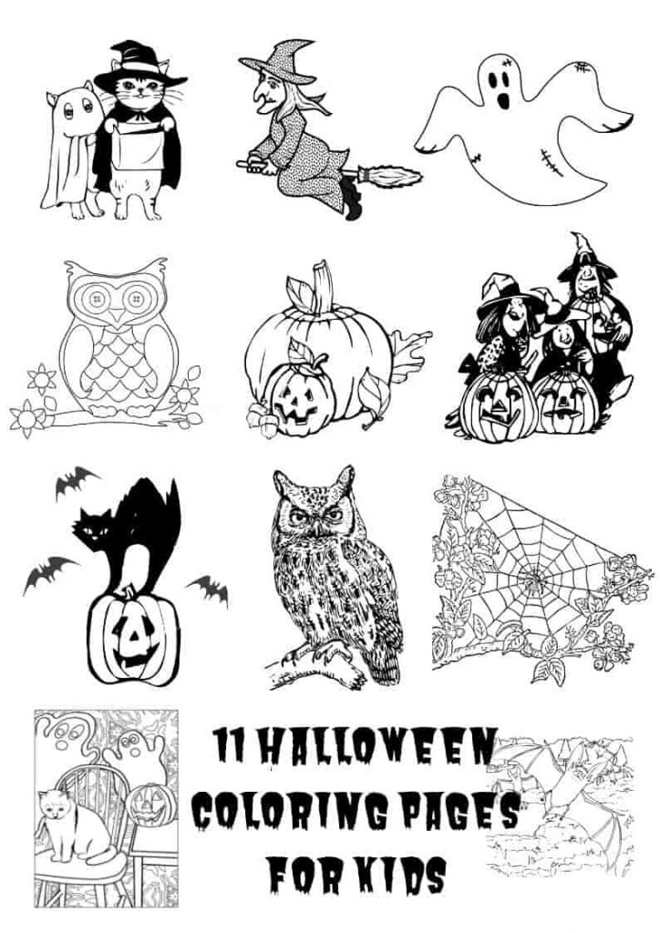 11 Free Printable Halloween Coloring Pages For Kids