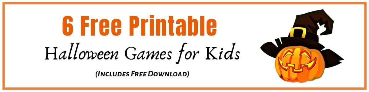 Halloween Printable Games for kids to print for free