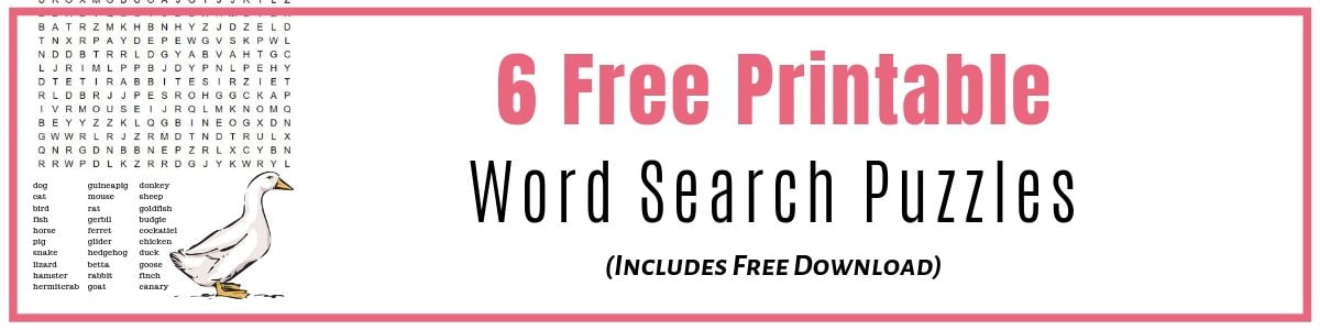 Word Search Puzzles to download and print for free