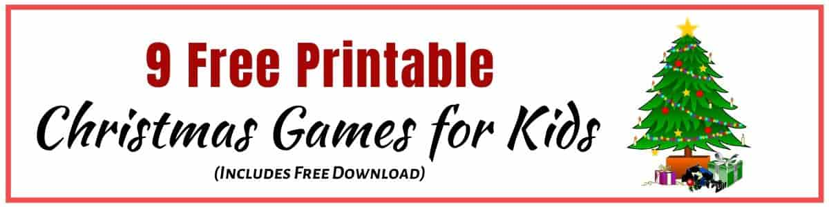 Christmas Games for Kids pdf to download and print