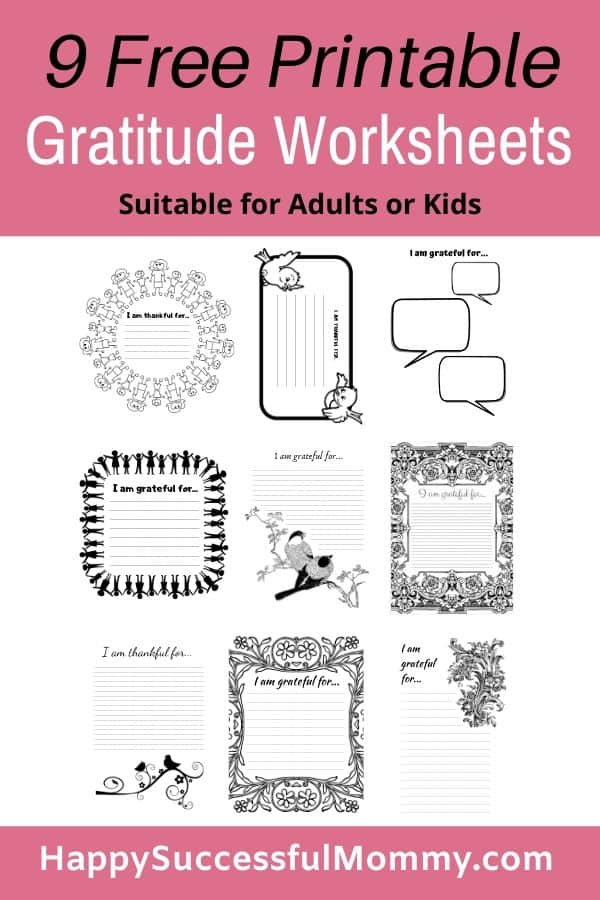 Gratitude Worksheets to download and print for you or the kids