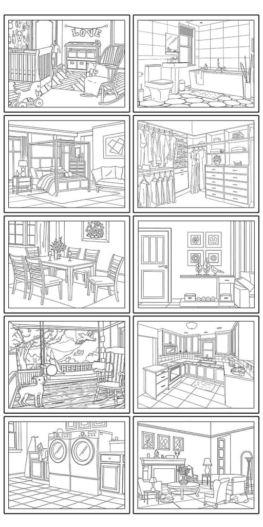 10 Free Printable House Coloring Pages (Beautiful Home Pictures For Kids Or  Adults)