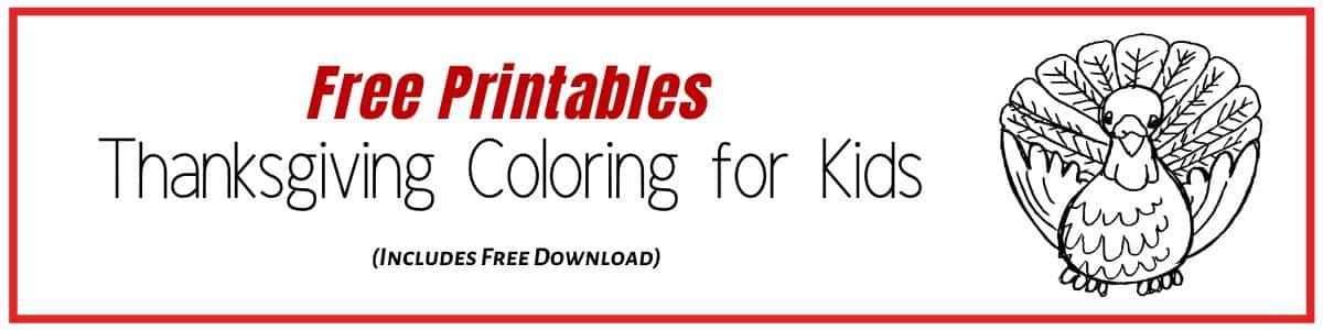 Thanksgiving Coloring Pages for Kids to keep them busy with a Thanksgiving Activity