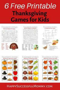 Thanksgiving Games for Kids to keep your children happy while you're busy cooking or to use as a fun family activity together
