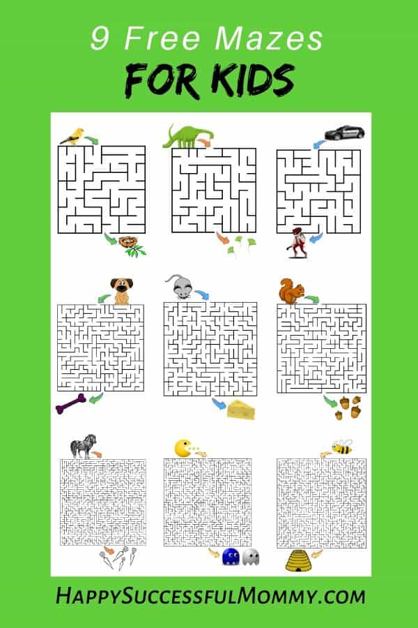 Mazes for Kids to keep them busy with a fun activity and it's free