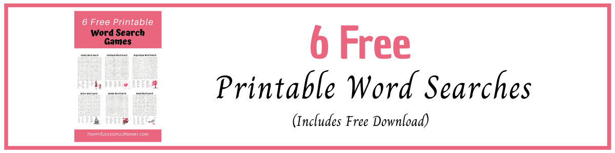 Free Printable Word Searches to help you relax